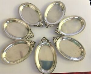 "7-WEBSTER ""BLOSSOM"" STERLING C1925 BUTTER PATS NUT CUPS"