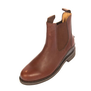 RRP €185 HUNTER Leather Chelsea Boots Mismatch Size L 37 R 38 Pull On Round Toe