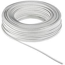 50m Zwillingslitze 2x 1,5mm² Kabel weiß 2-adrig
