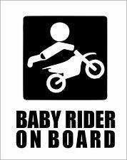 Baby Rider on Board Car Truck Van Bumper Window Vinyl Decal Sticker Dirt Bike