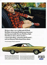 Vintage 1967 Magazine Ad Ford We Have A Dog A Cat A Rabbit And A '67 Ford