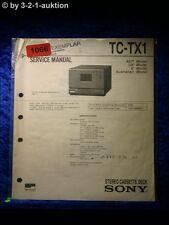 Sony Service Manual TC TX1 Cassette Deck (#1066)