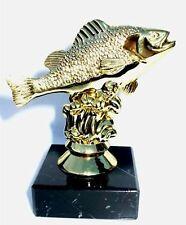 FISHING TROPHY FISH AWARD FLY FISHING CARP REEL ROD NET FREE ENGRAVING CO11