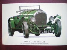 POSTCARD CAR 3 LITRE BENTLEY 1925