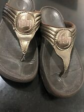 Fitflops BRONZE Fit  Flop Sandals Casual Holiday Beach UK 6