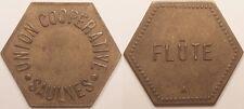 Monnaie de nécessité, Union Coopérative, Saulnes (54), Flûte, vers 1920 !!