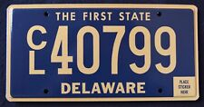 "DELAWARE "" THE FIRST STATE - CL40799"" MINT DE License Plate"