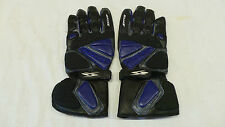 Spyke G-SR1 Blue Mens Leather Motorcycle Gloves Small