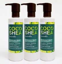 3 Bath & Body Works COCO SHEA CUCUMBER Seriously Soft Body Hand Lotion 24HR