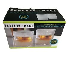 Sharper Image Chilling Whiskey Tumblers 2-piece Freeze Insulated 9 FL OZ NEW