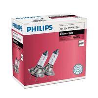 PHILIPS H7 Vision Plus 12V 55W PX26d Car Headlights Bulb Twin 12972VPC2
