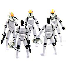 Lot 5Pcs Star Wars Clone Pilot TROOPER Revenge Of The Sith 501st figure 2005 toy
