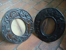 Antiguo Roble Tallada Marcos de fotos Estampado T Carnicero
