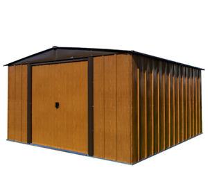 Spacemaker Gerätehaus Woodlake 10x12 Holzoptik 313x370 cm Gartenhaus B-Ware
