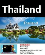 Travel to Thailand/Phuket - 5 days Prepaid Travel sim DTAC 4G/LTE network