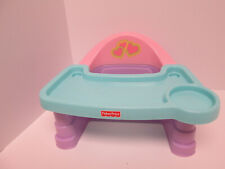 Fisher Price Servin Surprises Baby Doll High Chair Booster Seat Pretend Play