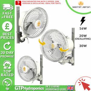 Secret Jardin Monkey Fan - 16w / 20w (Oscillating) / 30w Grow Tent Pole Clip on