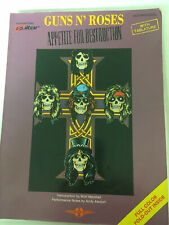 Guns N' Roses Appetite for Destruction,Guitar/vocal sheet music w/tablature,1988
