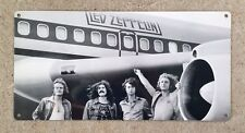 Led Zeppelin Airplane Jimmy Page Robert Plant JB Rock Vintage Poster Metal Sign