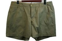Columbia Womens Sz 16 Shorts Olive Green Silver Ridge Zip Front Hiking Outdoors