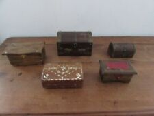 lot de 5 boites coffrets a bijoux en bois