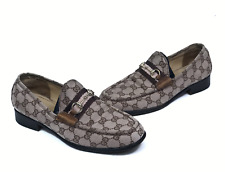 GUCCI women's canvas guccissima loafers   Size EUR 39.5 /US 7.5 (25.2 cm/9.8 in)