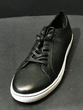 New Public Opinion Pacifica Black Leather Lace Up Sneakers Shoes Mens Size 9 M