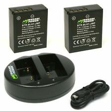 Wasabi Power Olympus BLH-1 Replacement (2 Batteries + Dual USB Charger)