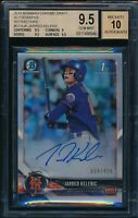 BGS 9.5/10 JARRED KELENIC AUTO 1st 2018 Bowman Chrome REFRACTOR /499 RC GEM MINT