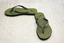 **Armani Exchange Printed Flip Flops - Women's Size 5 - Green