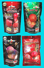 4x100g. OKIKO High Quality Flowerhorn and Cichild Fish Food Q-H-P-C Size L..