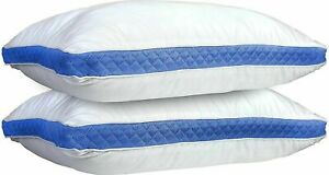 Pillows Pack of 2 Gusseted Bed Sleeping Pillow Down Alternative Queen King Size