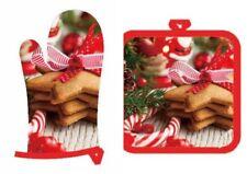 Weihnachten Ofenhandschuh und Topflappen Christmas Nikolaus Plätzchen