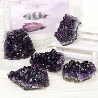 1pc Raw Amethyst Geode Crystal Cluster Quartz Healing Reiki Stone Druzy Natural