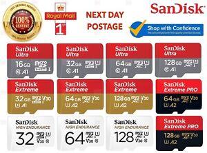 Sandisk 32GB 64GB 128GB 256GB Ultra Extreme PRO Class 10 Micro SD Memory Card TF