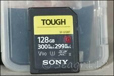 Sony 128gb G-Series UHS-II Tough SDXC SD Card R300 W299