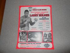 Vtg Heavyweight Champion Of The World Larry Holmes In A Exhibition Boxing Poster