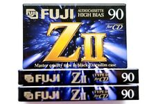 3 X Fuji ZII 90 Master Quality High Bias Type II Chrome Blank Audio Cassettes