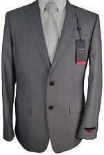 #X24 NEW JOHN VARVATOS Light Grey Striped 100% Wool Suit Jacket 42R $595