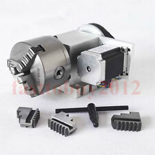 CNC Rotary Axis 4th Axis 3 Jaw Router Rotational Chuck 100mm for CNC Machine