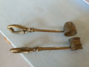 old vintage antique collectable Brass Candle Snuffer Cap