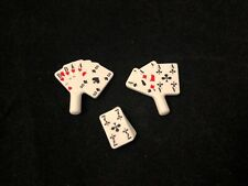 Playmobil Playing CARDS Gamblers cf Saloon 3787 Western cowboys rancher Lot Of 3