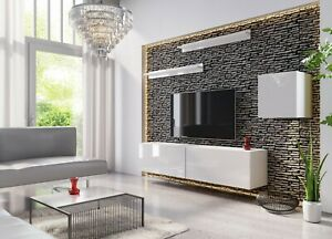 Modern Living Entertainment Wall Unit TV Stand BOXING 16 Gloss - 2 Colours