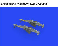 Eduard Brassin 1/48 resin R-23T missiles MiG-23 - 648433 - Trumpeter