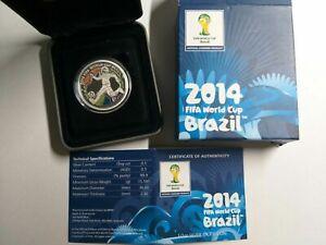 2014 BRAZIL Fifa World Cup 1/2oz Silver Proof Coin Australian Perth Mint Coin