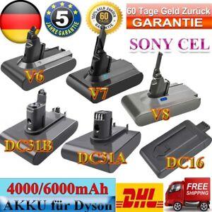 Akku Batterie Für Dyson V6 V7 V8 Animal Absolute 4.0AH 6000mAh Vakuum Sony cell