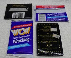 ** LOT of 4 Unopened SEALED Packs - 1991 - WCW - World Championship Wrestling *