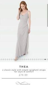 WED2B Thea Silver/Grey Bridesmaid Dress Size 18. Prom, evening, wedding.