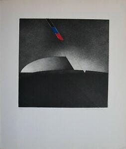 Walter Valentini Roberto Sanesi cartella Erasmus 1974 2 incisioni 60x50 firmate