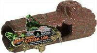 "Zoo Med Ceramic Catfish Log Hide Away  6.45"" reptile cave"